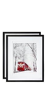 16x20 Poster Frames Black Set of 2
