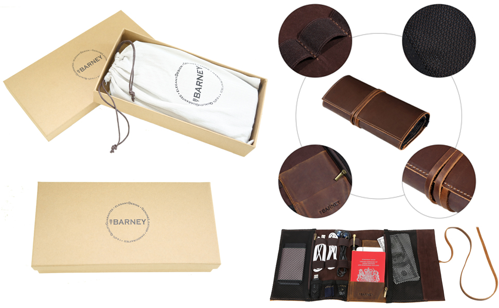 gift packaging present box design for Christmas New year  leather roll bag best gift for festivals