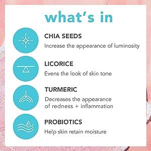 probiotic skincare face beauty primer foundation makeup