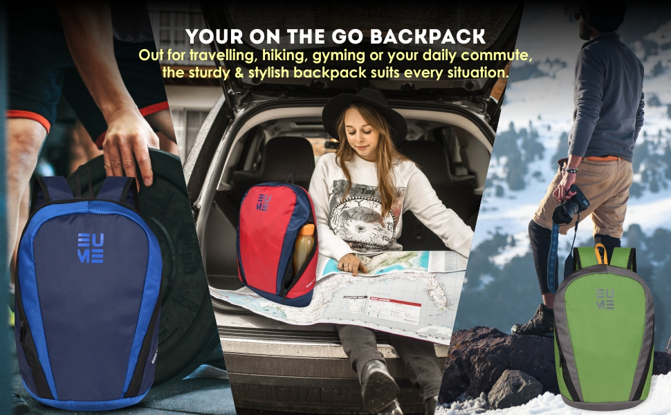 easy to carry light weight backpack bag for hiking everyday backpack gym bag school bag college bag