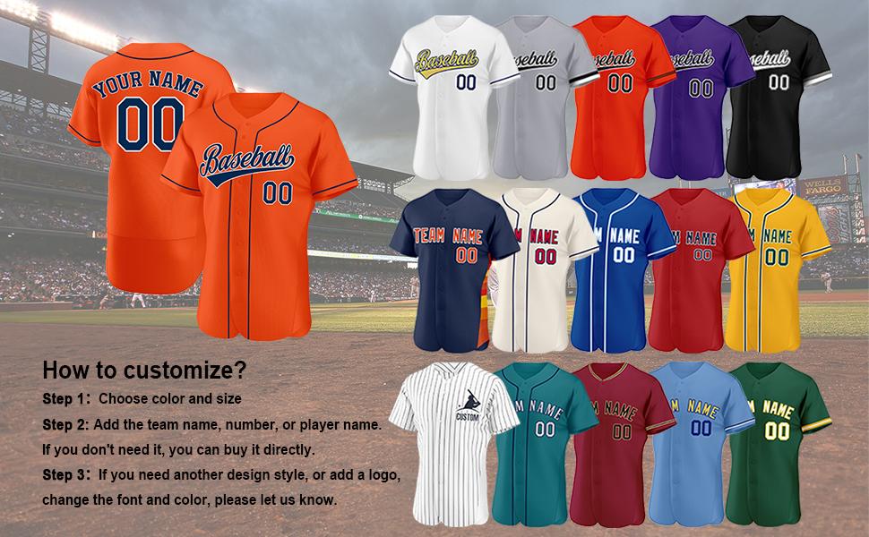 Amazon.com: Custom Baseball Jersey with