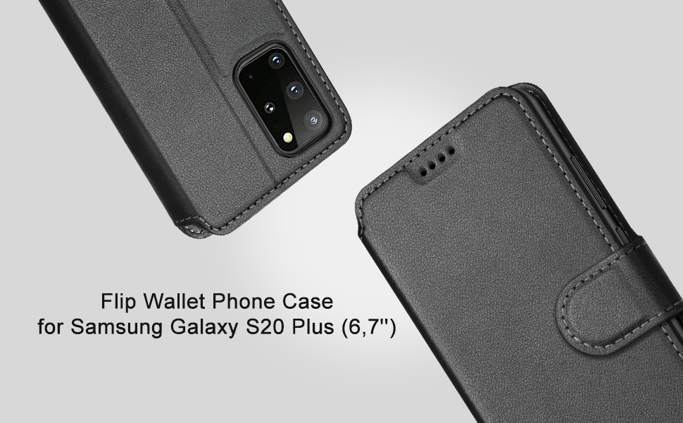 OCASE Galaxy S20 Plus Wallet Case Shockproof Phone Cover for Samsung Galaxy S20 Plus 6.7 Inch Black Galaxy S20+ Plus PU Leather Flip Case with RFID Blocking Card Holder Kickstand Magnetic Closure