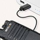 walkie talkie with usb charging cable and adapter
