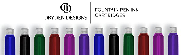 fountain pen ink cartridge dryden designs refill write calligraphy