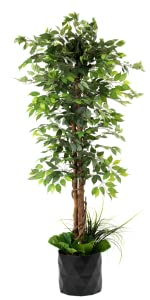 Artificial Ficus Tree Fake Imitation Home Décor Plant Indoor Silk Leaf luxury Deluxe 6 Feet 72 Inche