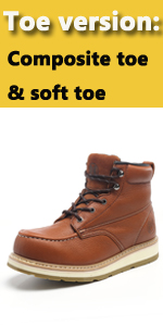 SOFT TOE WATER RESISTANT WORK BOOTS