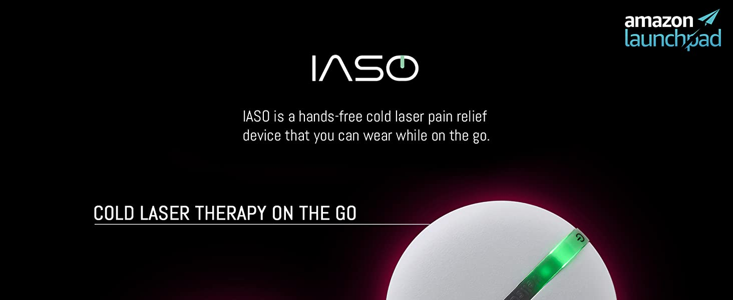 Iaso cold laser therapy  [IASO] Red Light Therapy Device and Massager- FDA-Registered, Pain Relief for Back, Foot, Neck, Shoulders, Wrists, Knees. Wearable, Compact, Rechargeable. All Inclusive Package (Double) c8eed76e 529c 4f56 a3dc fd5faf4cb911