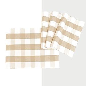 Buffalo plaid cotton placemat