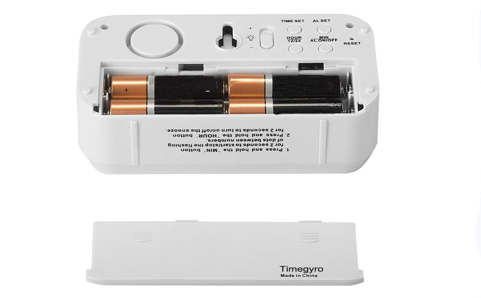 1 Batteriebetrieben Led-Licht Wecker LCD Digital 12//24H Time-System Display
