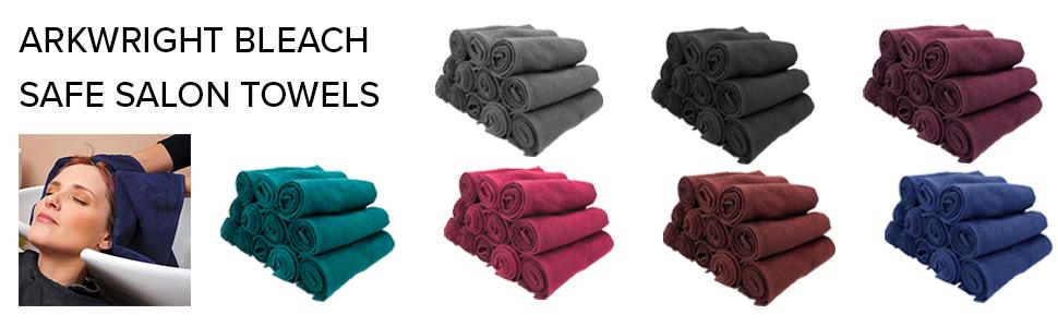 black salon towel, black barber towel