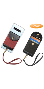 RFID Phone Card Holder Pocket with Ring