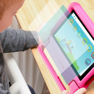 """tablet 3 - Dragon Touch KidzPad Y88X 7 Kids Tablet With WiFi, Android 10, 7"""" IPS HD Display, 32GB ROM, KIDOZ Pre-Installed, With Disney Authorized Contents, Kid-Proof Case, Shoulder Strap And Stylus, Pink"""