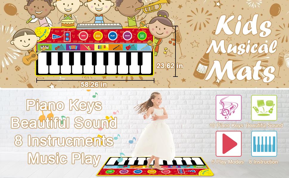 kid piano mat