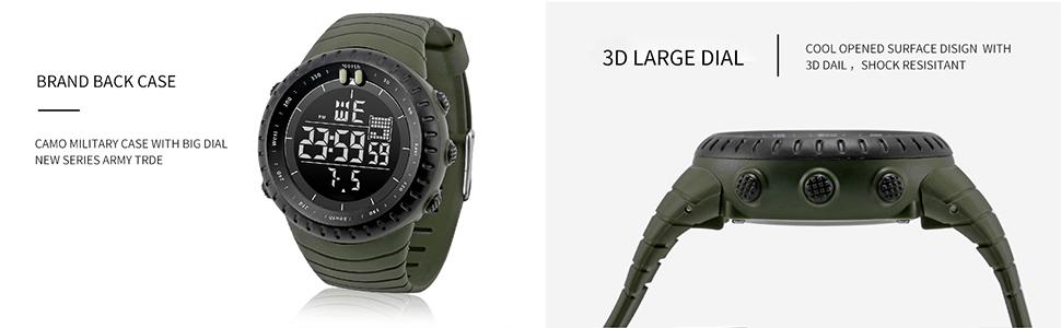 Digital dial muti function watch