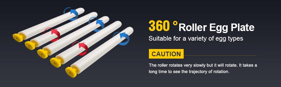 360 roller egg plate