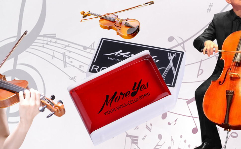 Moreyes Violin Rosin Viola Rosin Cello Bow Rosin 3 Pack Red
