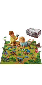 play mat, dinosaurs, educational, activities for kids, boys, girls, t-rex,boy, gift, grandkid,play