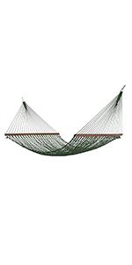Deluxe DuraCord Rope Hammock - Green
