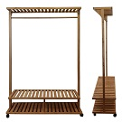 Displaying the Bamboo racks dimensions for lengths, height, width. A side and front view