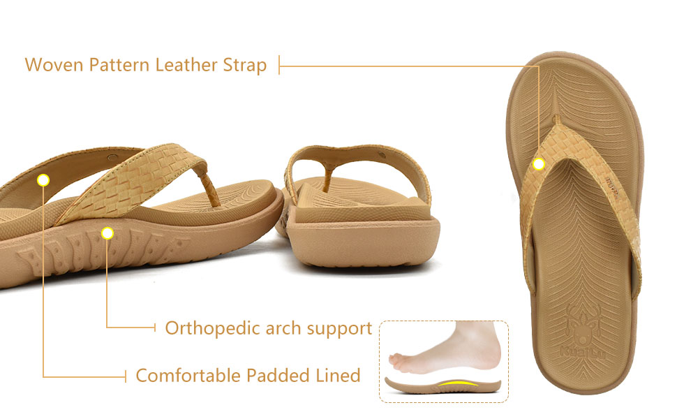leather strap and orthotic arch support