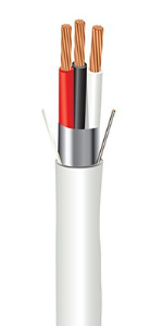 ewcs 3 conductor security and sound cable plenum rated 18 AWG 1000 feet electric wire and cables