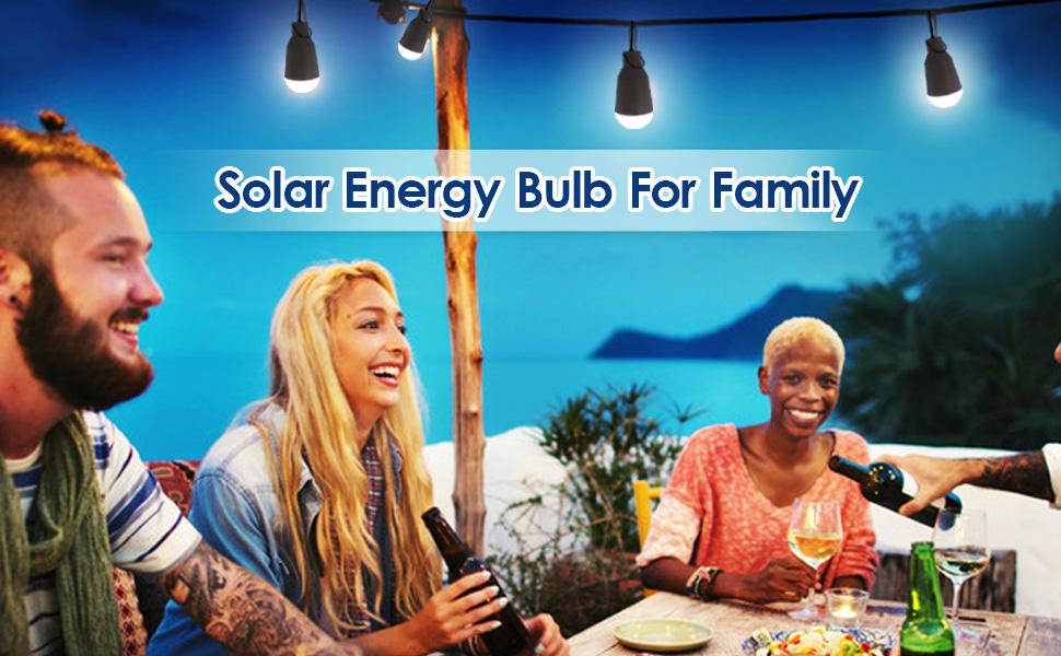 Solar energy bulb for family