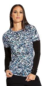 barco grey's anatomy edge get007 women's long sleeve print scrub tee