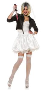 sexy womens costume bride of chucky killer 80s movie character badass murderer hot naughty scary fun