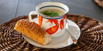 Golden Rabbit Enamelware Fish Camp Soup Mug