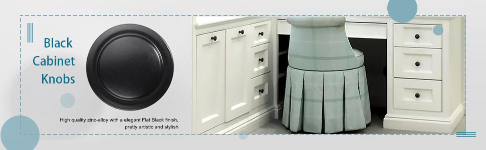 black cabinet knobs