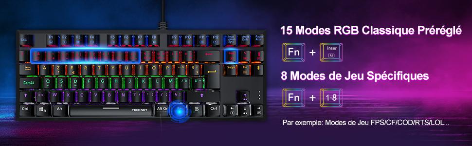 clavier gaming bleu