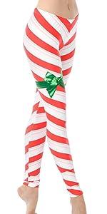candy cane leggings, ugly christmas leggings, ugly holiday legging, holiday legging, red white leg