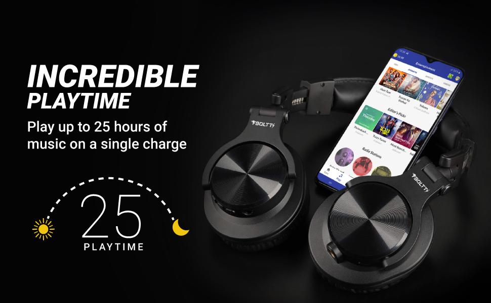 25 Hour playtime headphone