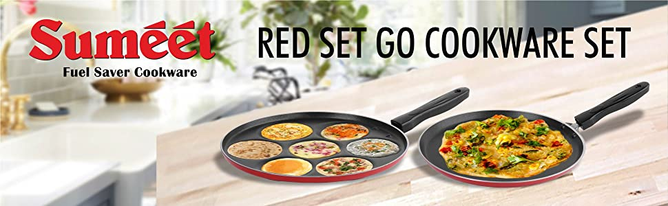 SUMEET RED SET GO COOKWARE SET