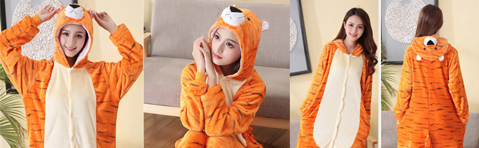 Brown COST-M NEW All in One with Hood - Tiger Costume UK IMPORT Size: Sma