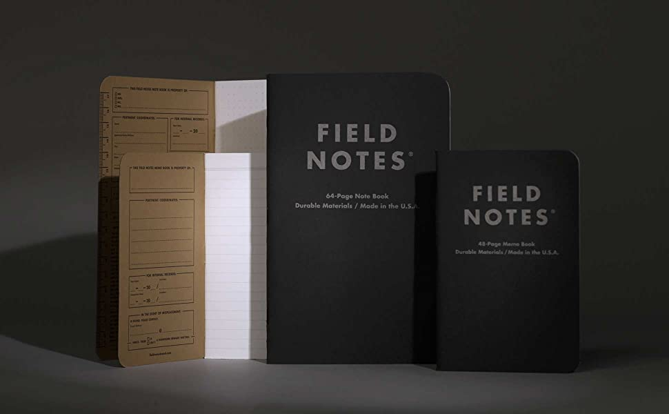 field notes pitch black memo notebook