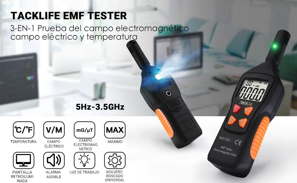 EMF - Detector de radiación electromagnética: Amazon.es: Industria ...