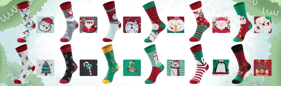 SALE Christmas Socks UK SELLER Soft /& Stretch Reindeer or Christmas Pudding