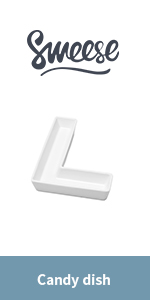 Anniversaries Table Decoration Sweese 708.922 Porcelain Letter Candy Dish Baby Showers Letter V Decorative Serving Dish for Weddings Birthday Parties White Candy Bowl