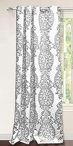 samantha 52 96 window curtain gray medallion pattern