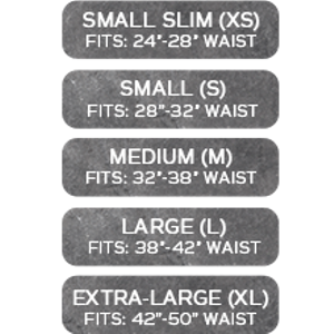 size chart small to large