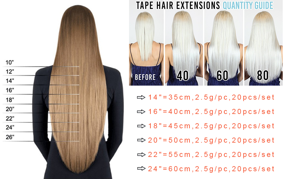 Tape extensions 20 cm