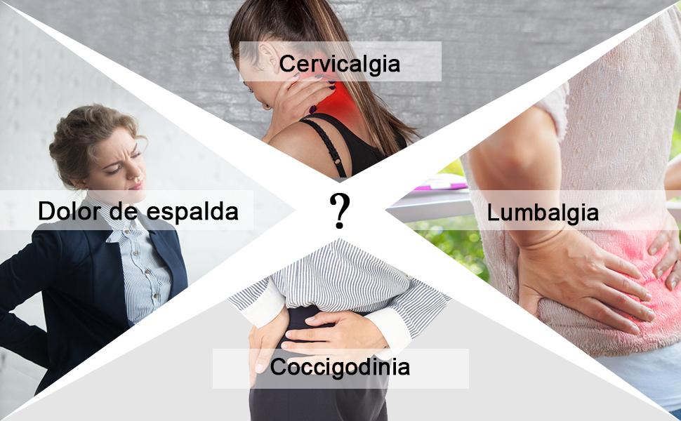 Cojin coxis, Cojines para Espalderas y Sillas, Cojin Ortopédico de Espuma de Memoria con Antideslizante y Ergonomicos para Aliviar Dolor de Espalda y ...