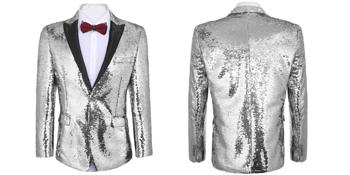 silver blazer jacket