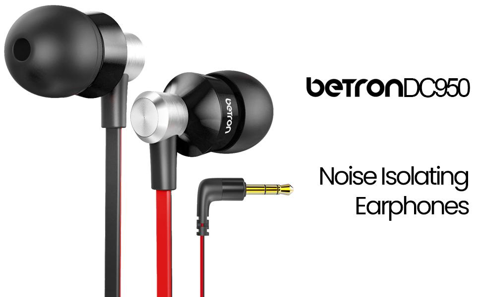 Betron DC950 noise isolating earphones banner
