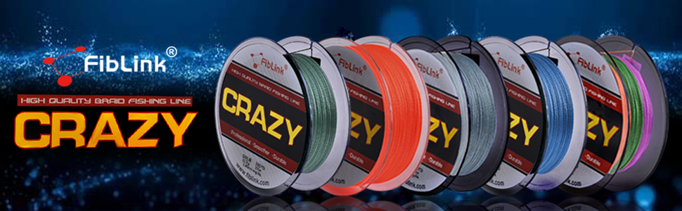 Braided Fishing Line 5 Colors Available 300 Yards 500 Yards Braided Line
