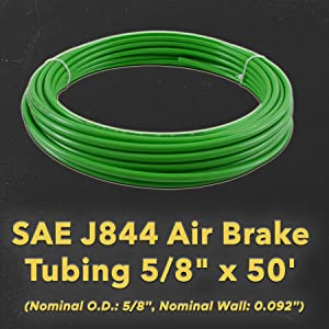 DOT Approved, Air Brake Tubing, Pneumatic Nylon Air Line Hose for Air Brake System, SAE J844