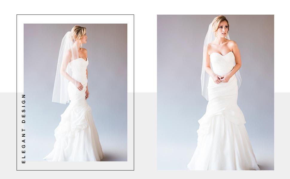 Wedding veil short