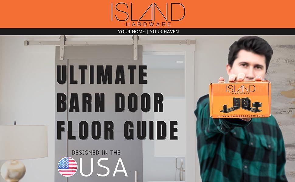 island hardware barn door floor guide sliding bottom stay roller wall mounted