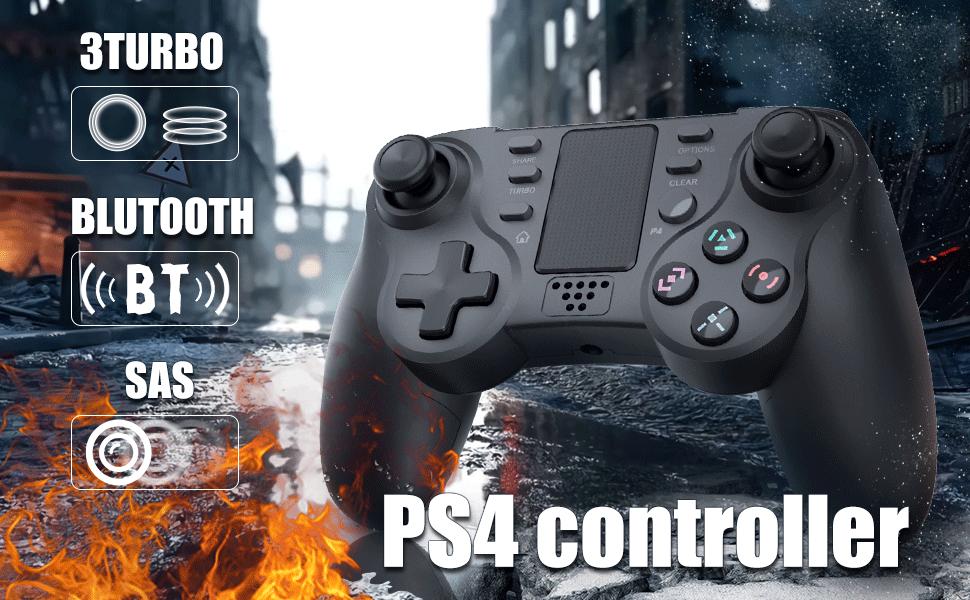 TUTUO Mando para PS4, Wireless Controller de Juego Inalámbrico Bluetooth Joypad Distancia Joystick Gamepad Controledor de Doble vibración Compatibile con PS4/PS4 Slim/ PS4 Pro/PS3: Amazon.es: Electrónica